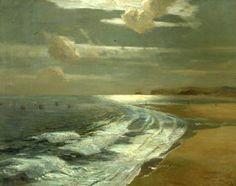 Silver Moonlight, St Ives Bay - Albert Julius Olsson
