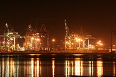 Durban harbour on a humid night Durban South Africa, Kwazulu Natal, Dreams Do Come True, African Countries, City Lights, Homeland, South America, Birth, Southern