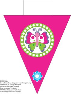 Printable Butterfly Banner