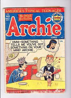 Archie No 40 1949 Soda Shop Cover