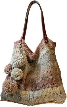 Daily Useful and Cool Crochet Bag Pattern Ideas - Page 33 of 60 - Beauty Crochet Patterns! Crochet Handbags, Crochet Purses, Crochet Bags, Knitted Bags, Knit Bag, Handmade Bags, Knit Patterns, Hand Knitting, Purses And Bags