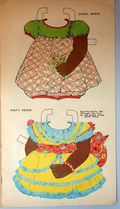 Un Cut Paper Doll Book Large Format 17 Petunia Patches 1937 Black Americana Paper Dolls Book, Paper Toys, Paper Crafts, Paper Cutting, Cut Paper, Vintage Playmates, Paper Dolls Printable, African American Dolls, Black Paper