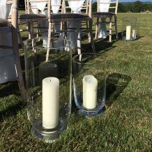 CLASSIC GLASS FOOTED HURRICANE STORM LANTERN  FOR WEDDING OR PARTY DECOR (PERFECT FOR AISLE RUNNER DECORATION)  Candleholders Archives - Hire and Style | Hire and Style