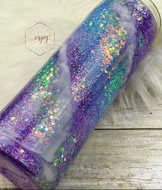 Excited to share this item from my #etsy shop: Lavender and lace swirl tumbler Glitter Tumblr, Tumbler Photos, Loose Glitter, Luxury Packaging, Tumbler Cups, Rainbow Dash, Thank You Gifts, Epoxy, Things To Think About