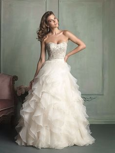 Beautiful Strapless #Wedding Dresses from Allure Bridals