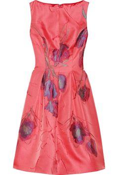LELA ROSE  Floral jacquard dress  $1,519.57