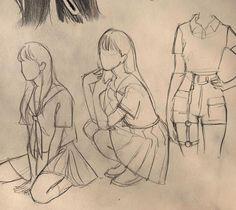 Kpop Drawings, Cool Art Drawings, Art Drawings Sketches, Art Poses, Drawing Poses, Pretty Art, Cute Art, Art Reference Poses, Art Sketchbook