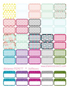 free planner printable stickers for ECLP, ERin condren planner, the hp , the happy planner, kikki k, filofax and all lifeplanners @planner.PICKETT