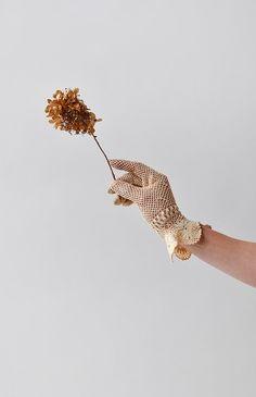 Somewhere in Time Gloves / vintage 1930s crochet gloves