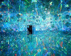 Installation at ACE Gallery, New York - Hiro Yamagata Yamagata, Sound Installation, Art Installations, Stained Glass Suncatchers, Disco Party, Art Database, Light Art, Design Art, Glass Design