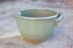 3 Cup Batter Bowl,  Mixing Bowl with Pour Spout in Sage Green