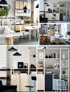 IKEA Osterreich Inspiration Wohnzimmer Braun Sitzecke Schrank