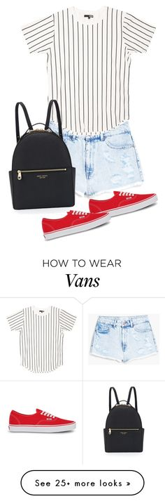 """""""Untitled #1507"""" by musicfasionbooks on Polyvore featuring MANGO, Vans and Henri Bendel"""
