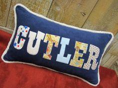 12x20 Childrens Customized Name Throw Pillow. $44.99, via Etsy.