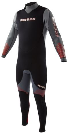 Body Glove Voyager 3mm Men's Backzip Fullsuit - Gray/RedOne of the most popular wetsuits on the market, the Voyager has 3mm thick Evoflex neoprene throughout. The Voyager wet suit has a Thermolite insulation to help you stay warmer and it is made of...
