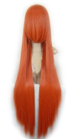 """39""""long Dark Orange Gintama KAGURA Cosplay party Wig jf010091 by Dealheroes. $26.74. Hair material: 100% Japanese Kanekalon (high quality one) made fiber.. Top Material and design: Adjustable Monofilament Net.. Size: """"One-size-fits-most"""" and work for both men and women. Hair type: We GUARANTEE that the hair we sell is 100% kanekalon fiber.. Brand  new, AAA High quality. *** 39"""" Gintama KAGURA long Dark Orange Cosplay Hair Wig *** Specification: *Hair material: 100% Japanese Kanek..."""
