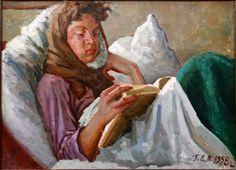 Панфилов Евгений Матвеевич - Девушка с книгой, Год: 1957