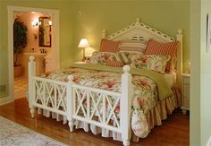 It's very feminine, but I love this bed!
