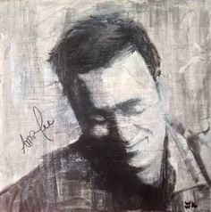 "Saatchi Art Artist William Wright; Painting, ""Portrait of Amos Lee - Signed by Amos + Artist"" #art"