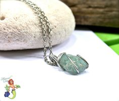 Sea Glass Necklace - aqua blue seaglass from Hawaii, Hawaiian jewelry by Mermaid Tears for beach brides