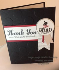 graduation thank you cards by holmesj cards and paper crafts at splitcoaststampers