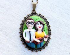 Best friends custom jewelry custom family portrait by NicomadeMe