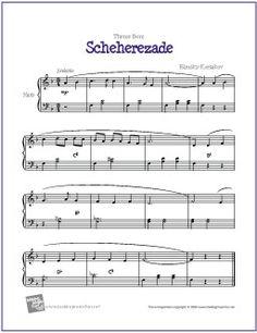 scheherezade theme easy piano sheet music