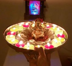 Ganesha's pooja Birthday Candles, Birthday Cake, Diwali Decorations, Ganesha, Desserts, Food, Tailgate Desserts, Birthday Cakes, Deserts
