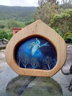 Wooden Frame postcard size / Wooden Postcard holder / Waldor Seasonal Table / Wooden frame waldorf inspired