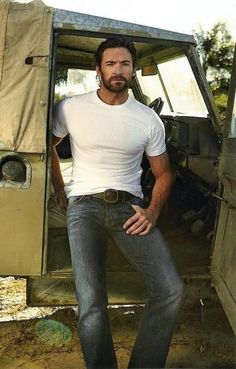 Hugh Jackman-im about to puke bc hes so hot. and the older he gets the sexier he… #HughJackman