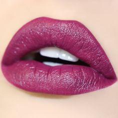 Colourpop Ultra Satin Lipstick in The Shade Panda Satin Lipstick, Lipstick Shades, Lipstick Colors, Liquid Lipstick, Lip Colors, Brown Lipstick, Gerard Cosmetics, Hot Pink Lips, Purple Lips