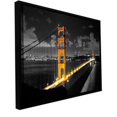 'San Fransisco Bridge I' by Revolver Ocelot Framed Graphic Art on Wrapped Canvas