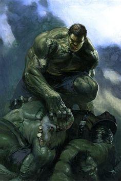 "gabrieledellotto: """"Hulk smash!!!!"" Secret Wars variant #7 """