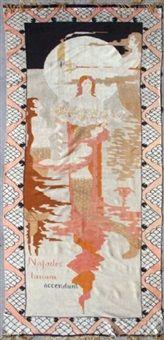 Najadene eller Havfruer som tænder Månen by Frida Hansen Textile Tapestry, Tapestry Weaving, Arabian Nights, Art Auction, Art Market, Art Nouveau, Fairy Tales, Arts And Crafts, Embroidery