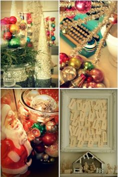 ways to use the boxes and boxes of vintage ornaments that don't fit on the tree...