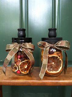 Mason Jar Candlestick Holders (2) on Etsy, $25.00