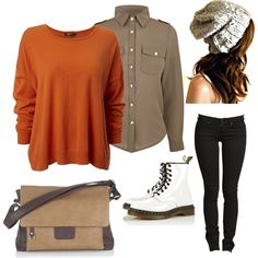 """""""Autumn Inspired Tomboy Chic"""" by tomboi-urban-life-style on Polyvore"""