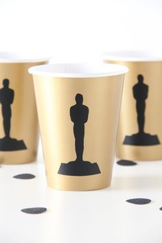 Make your own oscars party cups! | And We Play