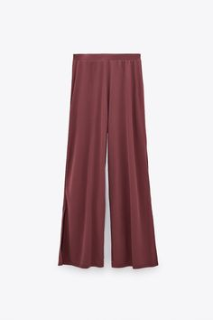 PANTS WITH SIDE VENTS TRF | ZARA United States Trousers Women, Pants For Women, Pair Costumes, Harem Pants, Pajama Pants, Women's Pants, Zara Australia, Zara United States, Zara Women