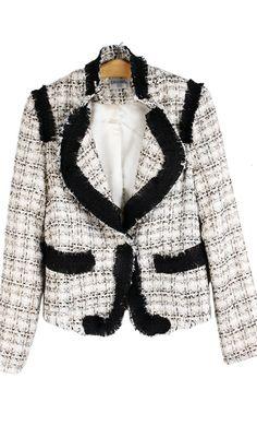 Mixed colors burr short jacket 091003