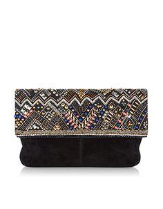 Ramena Zigzag Foldover Clutch Bag accessorize.com