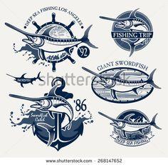vintage fishing logo - Google Search