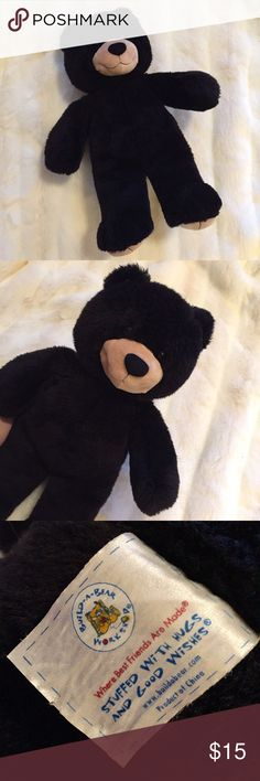 "Build-A-Bear ""BLACK BEAR"" Kid's Stuffed Animal! 🐻Official BUILD-A-BEAR Product! • Traditional ""BLACK BEAR"" with brown eyes! • Perfect companion for a little one! • Stuffed and purchased at the Downtown Disney, California Build-A-Bear workshop! • GREAT condition, LIKE NEW! Build-A-Bear  Other"