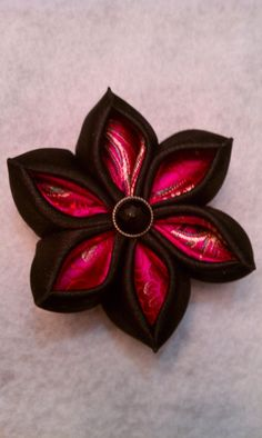 Pointed satin flower inspired by kanzashi by SugarbowsDesigns, $8.50