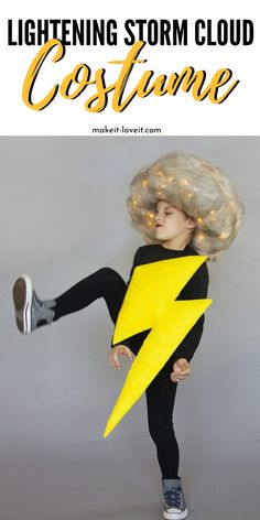 Diy costumes 113153009376482387 - Lighting And Storm Cloud Costume is such a fun and creative costume to consider making. This DIY lightening costume has lights in the storm cloud to make it extra special. Source by makeitandloveit Easy Diy Costumes, Last Minute Halloween Costumes, Group Halloween Costumes, Costumes For Teens, Creative Halloween Costumes, Couple Halloween, Halloween Kids, Happy Halloween, Kid Costumes