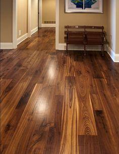 Wide Plank Walnut Flooring | Walnut Hardwood Flooring | Olde Wood