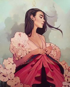 Digital art and illustration // It's been a long time since I've stumbled upon an illustrator who has been able to bring a bit of freshness into the illustrating world. Kelsey Beckett's illustrations of beautifu Art And Illustration, Character Illustration, Princess Illustration, Creative Illustration, Portrait Illustration, Art Inspo, Inspiration Art, Kelsey Beckett, Oeuvre D'art