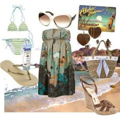 Otro look tambien muy chic!!! pero con más glamour si nos gusta estar en vestido algo más glamouroso comodo y GENIAL para la playa