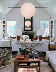 chic white living room