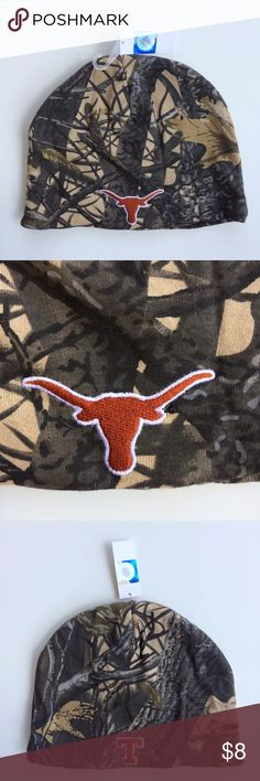 Adult Toboggan Beanie Camo UT Texas Longhorns Adult Toboggan Beanie Camo UT University of Texas Longhorns Hat NCAA.  Brand new. Accessories Hats